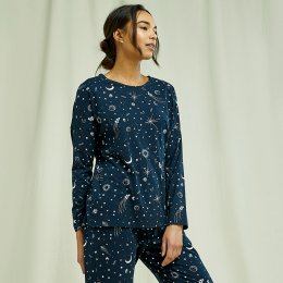 People Tree Starlight Pyjama Long Sleeve Top