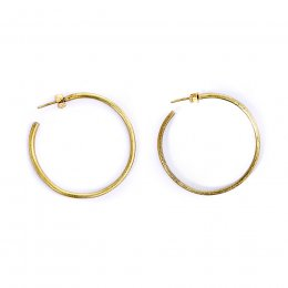 People Tree Simple Brass Hoop Earrings