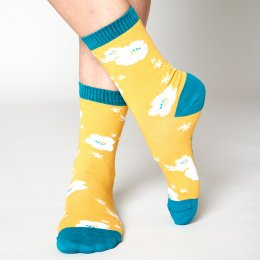 Nomads Sunflower Hibiscus Socks - UK4-7