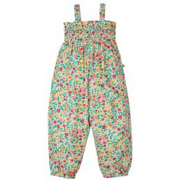 Frugi Ditsy Flower Valley Safia Smocked Dungaree