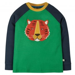 Frugi Jake Tiger Applique Top