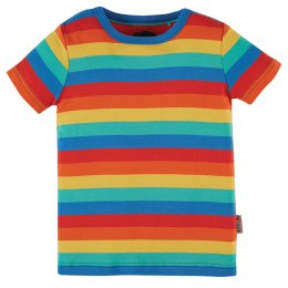 Frugi Favourite Rainbow Stripe T-Shirt