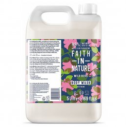 Faith in Nature Wild Rose Body Wash - 5L