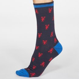 Thought Dark Navy Carlos Sea Creatures Bamboo Socks - UK 7-11