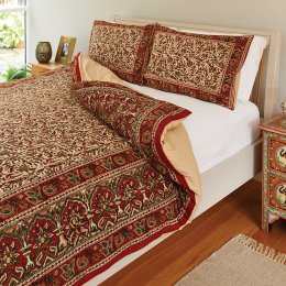 Hand Block Printed Duvet Set - Double