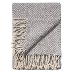 Diamond Cotton Handloom Throw - Grey