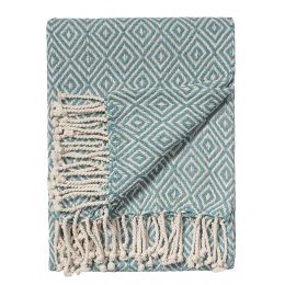 Diamond Cotton Handloom Throw - Bermuda Blue