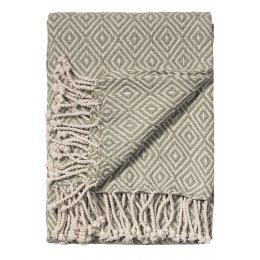 Diamond Cotton Handloom Throw - Vintage Sage