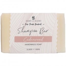 Fair Trade Solid Shampoo Bar - Cedarwood - 100g