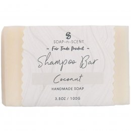 Fair Trade Solid Shampoo Bar - Coconut - 100g