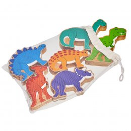 Lanka Kade Wooden Dinosaurs - Bag of 6