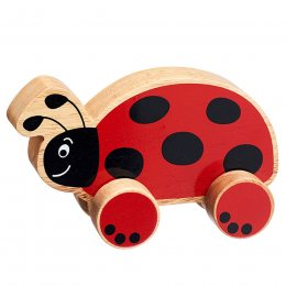 Lanka Kade Wooden Ladybird Push Along Toy
