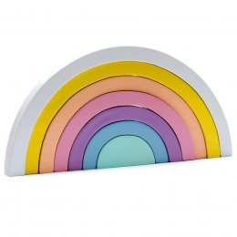 Pastel Rainbow Wooden Stacking Puzzle