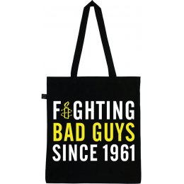 Amnesty Fighting Bad Guys Tote Bag