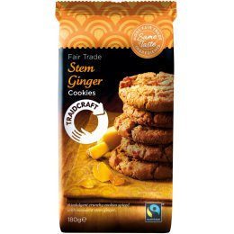 Traidcraft Fairtrade Stem Ginger Cookies - 180g